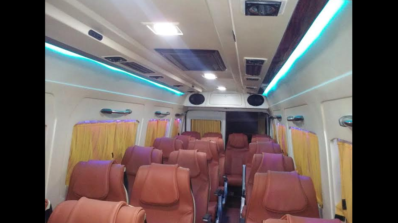 16 Seater Deluxe Tempo Traveller